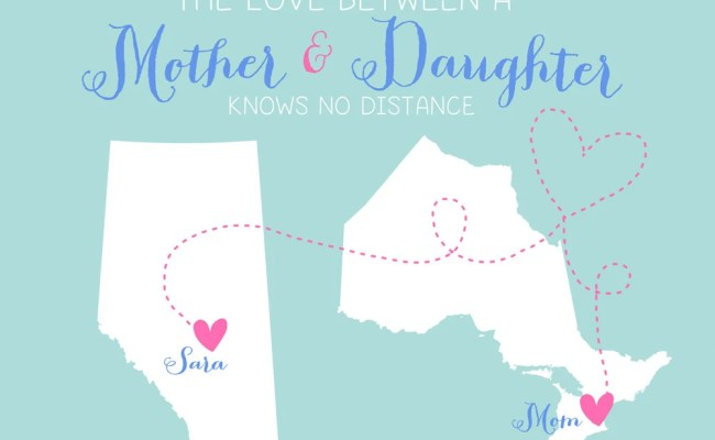 Gift For Mother Long Distance 8x10 Custom Maps By