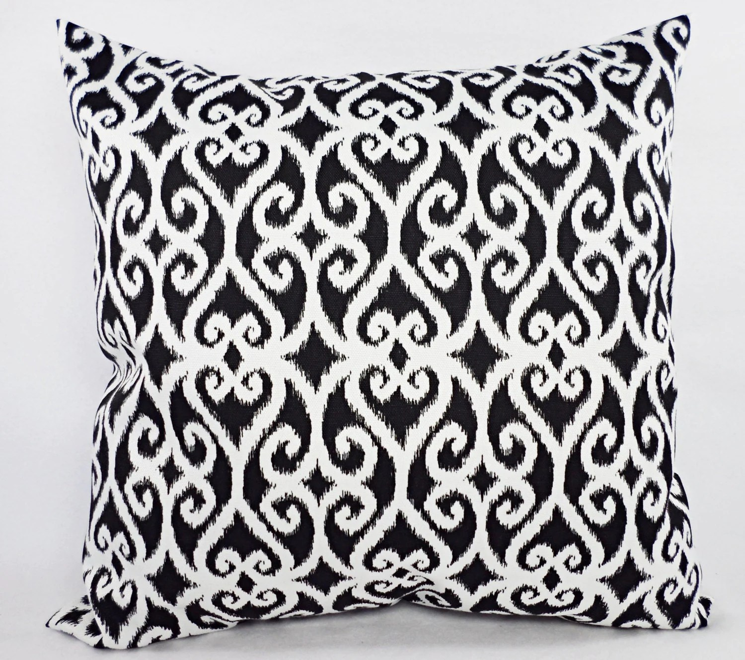 CLEARANCE Outdoor Pillows One Black Decorative Pillow Cover