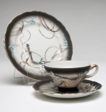 Vintage 15 Pc Moriage Dragonware Dragon Tea Set Dessert