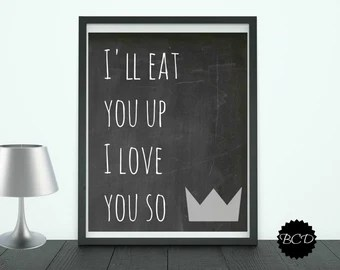 Download ill eat you up i love you so - Etsy