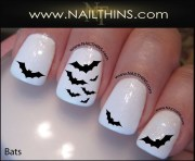 bat nail decal halloween vampire