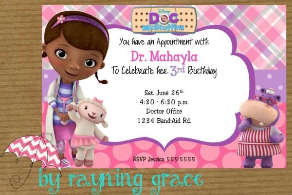 Doc McStuffins Party Invitations Templates