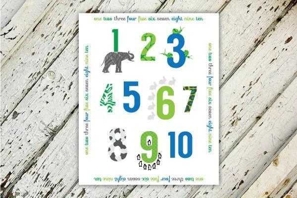 Zoo Animals 123 Nursery P...