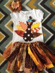 fall thanksgiving leopard turkey