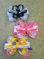 personalized hair bow child's