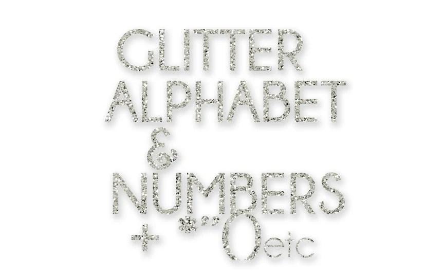 Silver Sparkle / Glitter Alphabet Clip Art / Digital Clipart