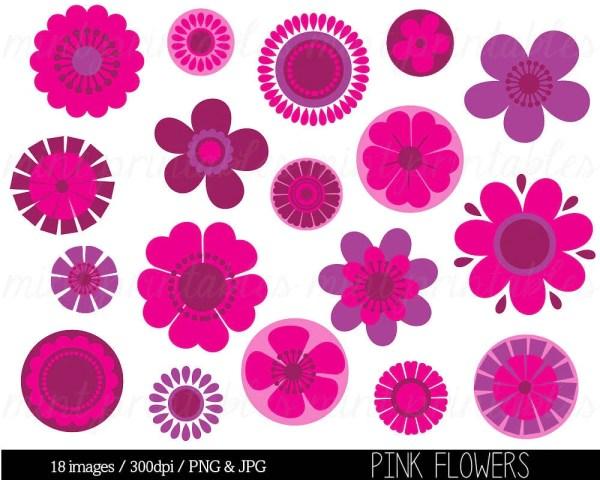 flower clipart clip art pink flowers