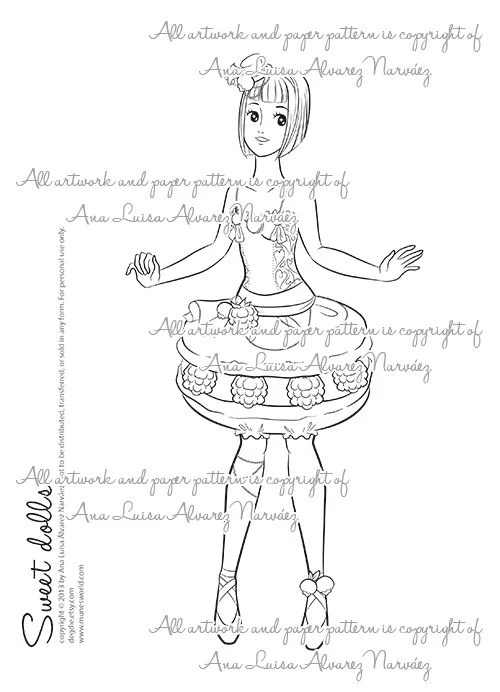 Macaroons Coloring Page Coloring Pages