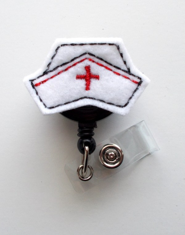 Nurse Cap Cute Badge Holder Nurses Felt