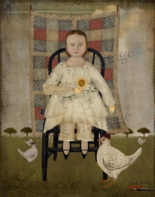 Primitive Folk Art 8x10 Print