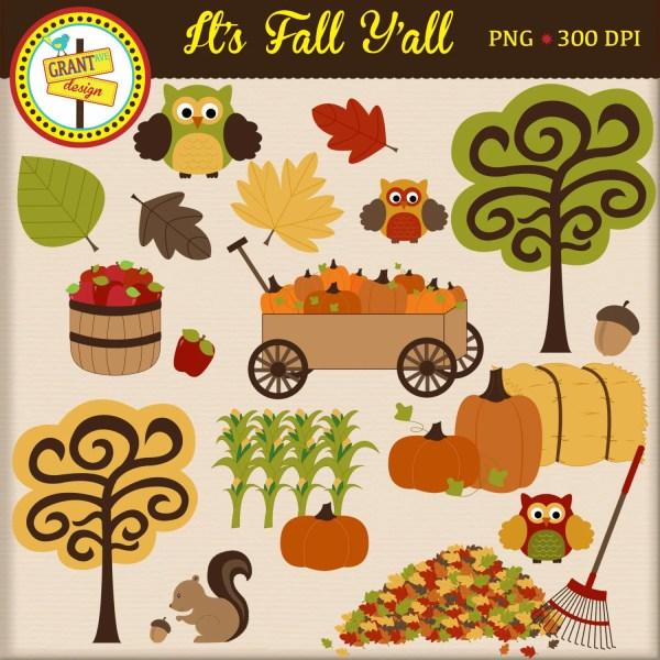 fall clip art clipart cute