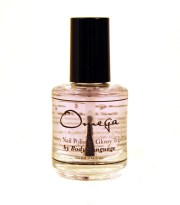 shiny top coat nail polish omega