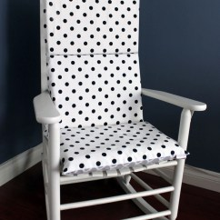 Polka Dot Rocking Chair Cushions Folding Parts Cushion Black White Grey