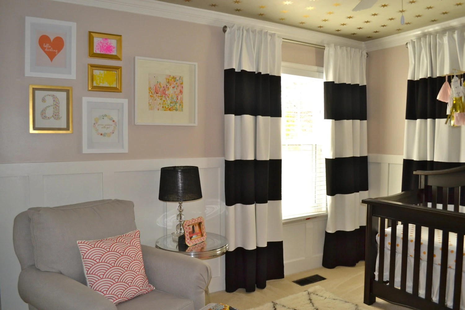 Black And White Horizontal Striped CURTAINS CUSTOM