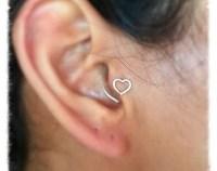 Tragus Earring Open Heart Sterling Silver Tragus Earrings ...