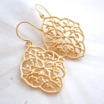 Gold Filigree Earrings. Perfect Everyday Earrings.