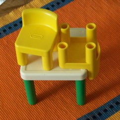 Little Tikes Classic Table And Chairs Silver Desk Chair Vintage Dollhouse Two Retro