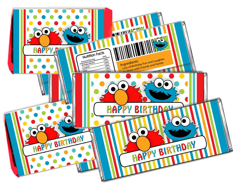 Sesame Street Kitkat Amp Hershey Candy Bar Wrappers Printable