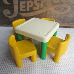 Little Tikes Classic Table And Chairs Peg Perego High Chair Rocker Vintage Green Yellow