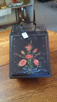 vintage Fireplace box utility metal box tole by ...