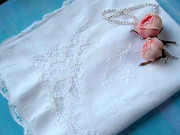 Battenburg Lace Pillowcase Pillow Sham Bedding