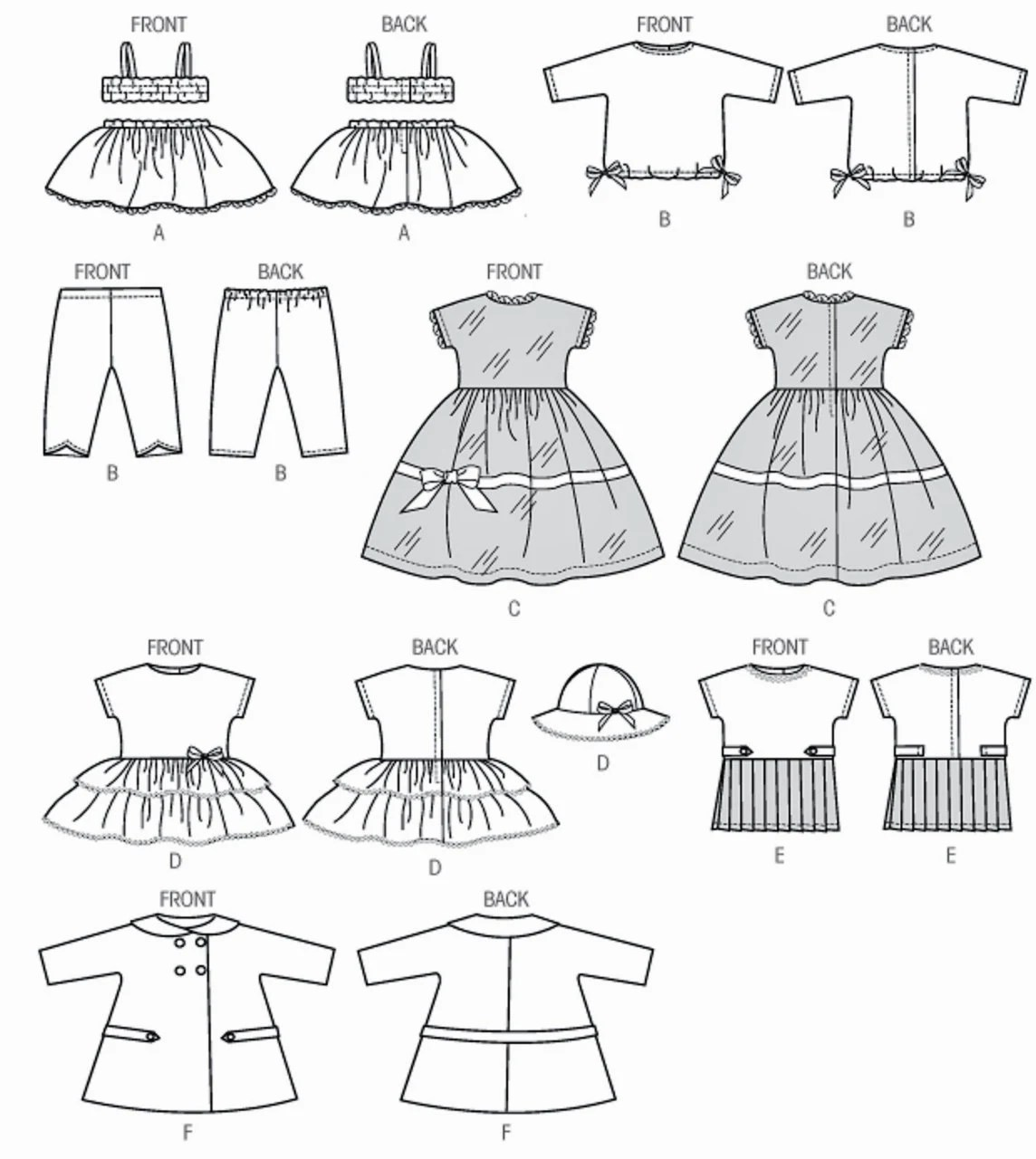 18 inch Doll Clothes Pattern, 18 inch Doll Slip and Cami