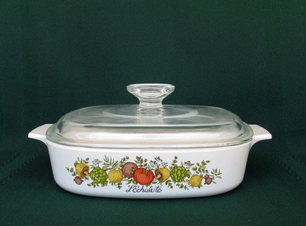 Vintage Corning Ware Spice Of Life Casserole Dish With Pyrex
