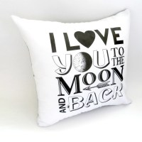 Items similar to I Love You to The Moon and Back Pillow