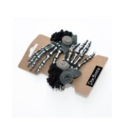 skeleton hand hair clip gothic