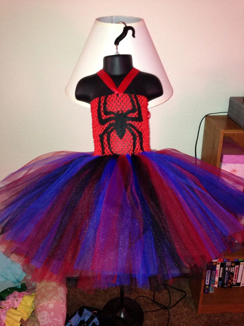 Items similar to Miss SpiderMan Spider Woman tutu dress size 6m5t on Etsy