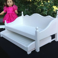 American Girl Doll Chairs Seat Cushion For Office Chair Furniture Daybed With Trundle White