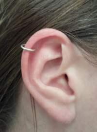 Sterling Silver Hoop Earring 16 GAUGE. Cartilage Tragus Helix