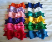 girls hair bow set rainbow