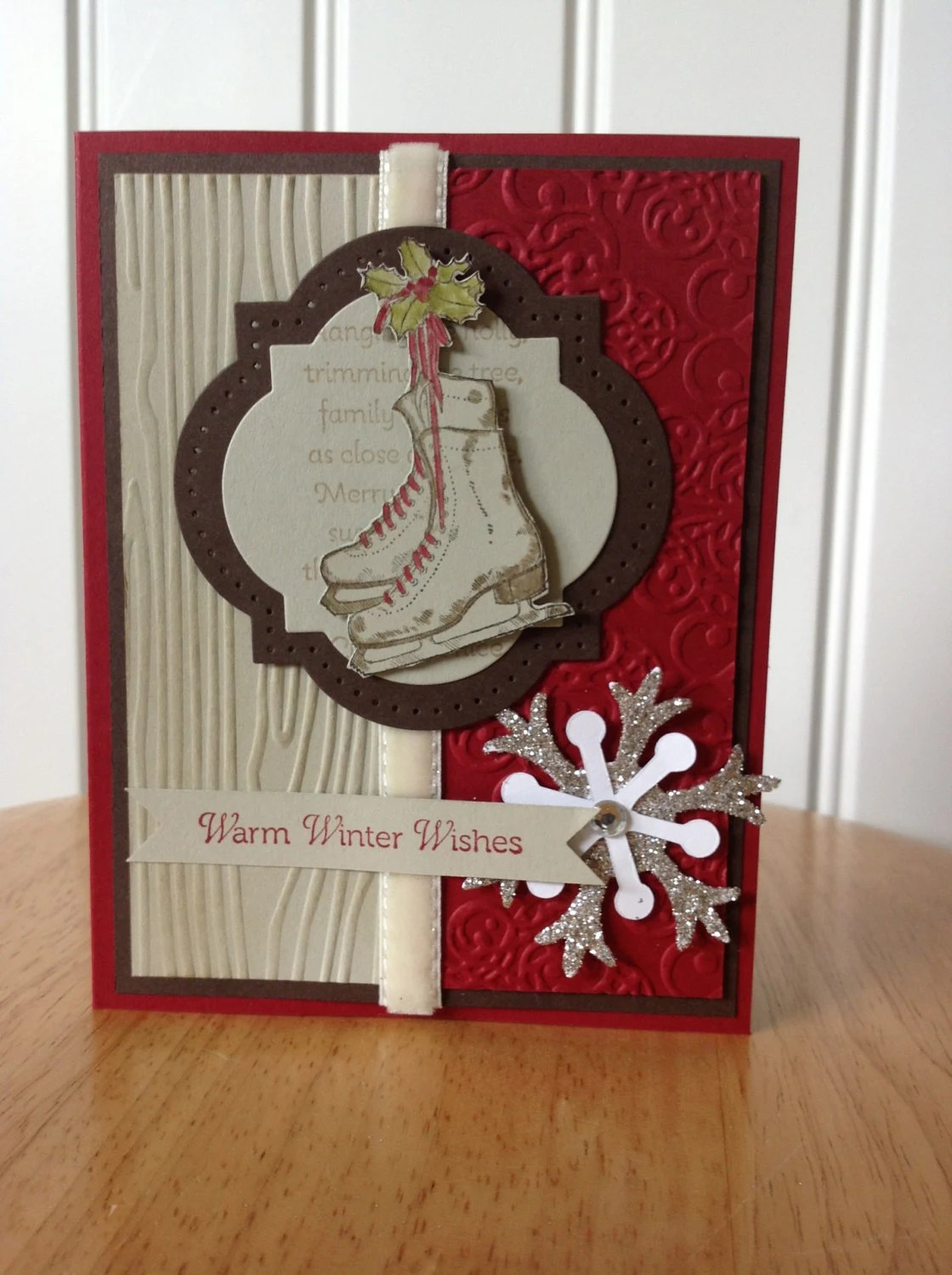 Items Similar To Stampin Up Handmade Christmas Card