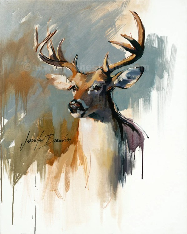 White-Tailed Deer Painting