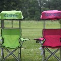 Kids foldable canopy beach camp chair monogram personalized pink blue