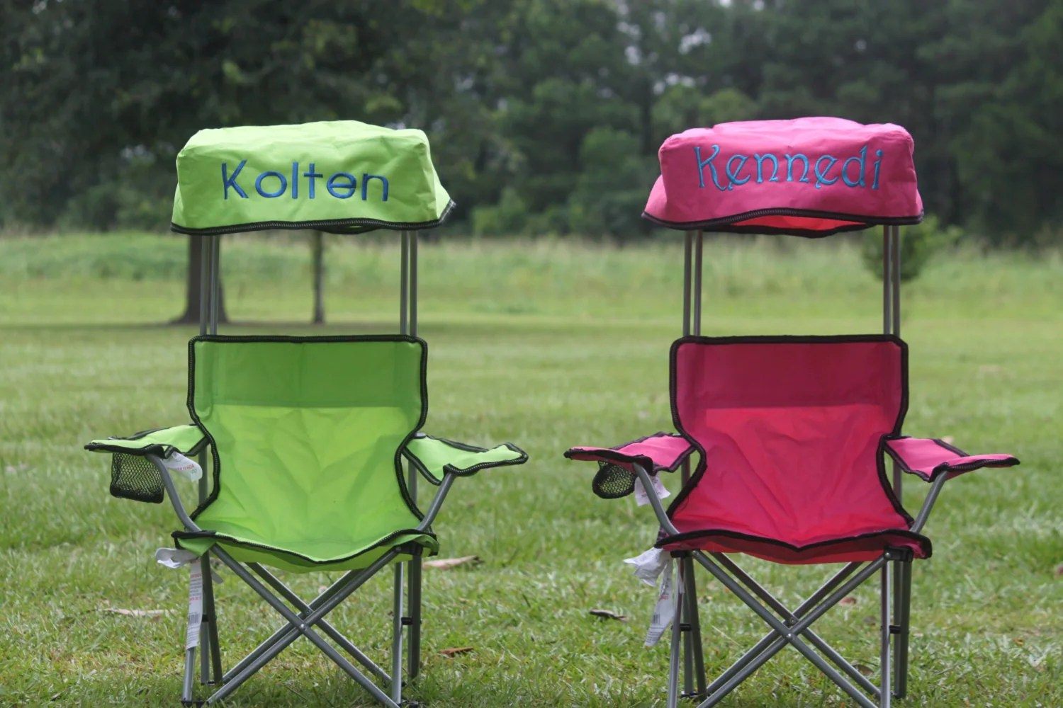 Camping Chairs With Canopy Kids Foldable Canopy Beach Camp Chair Monogram By
