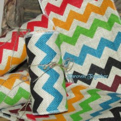 Burlap Chair Sashes Canada Leather Sleeper Bed Chevron Ribbon 3yds 5in Print Multi