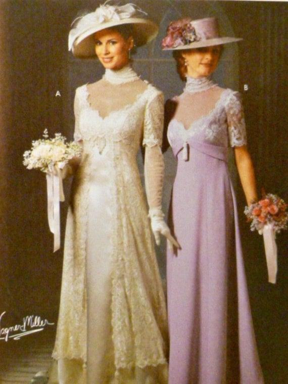 Simplicity 9716 Pattern Misses Titanic Era Bridal Bridesmaids