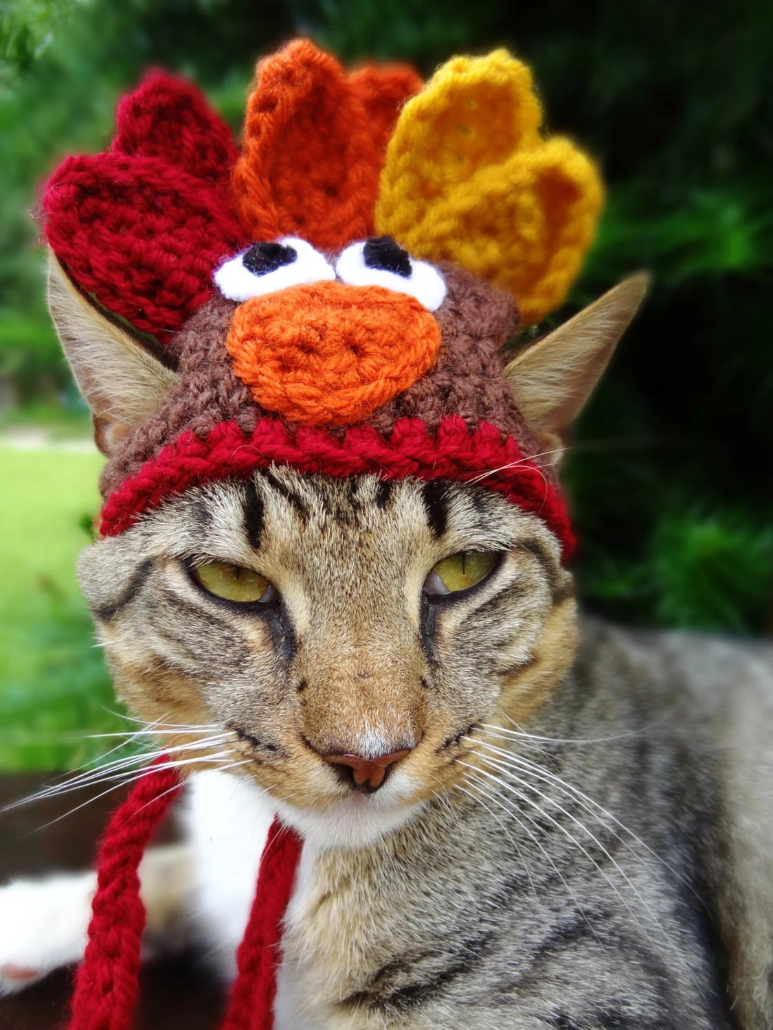 Cat Hat Costume The Thanksgiving Turkey Hat by iheartneedlework