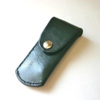 Pocket Knife Holder. Green Leather pocket knife by ...