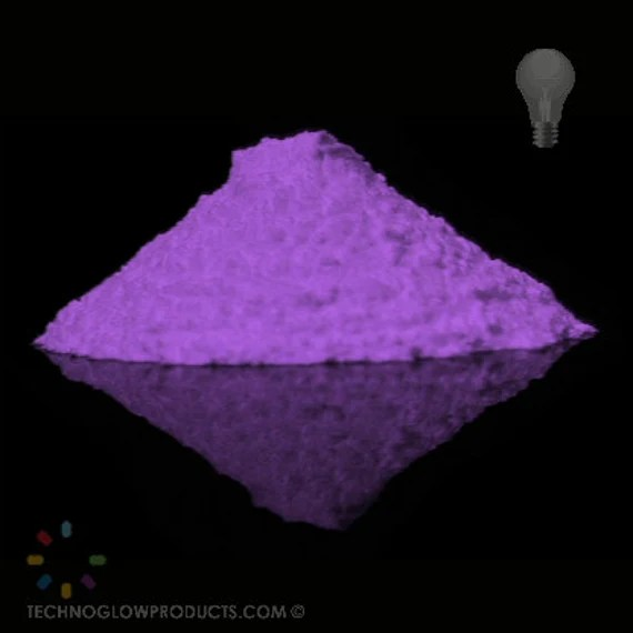Violet Glow in the Dark Pigment Powder