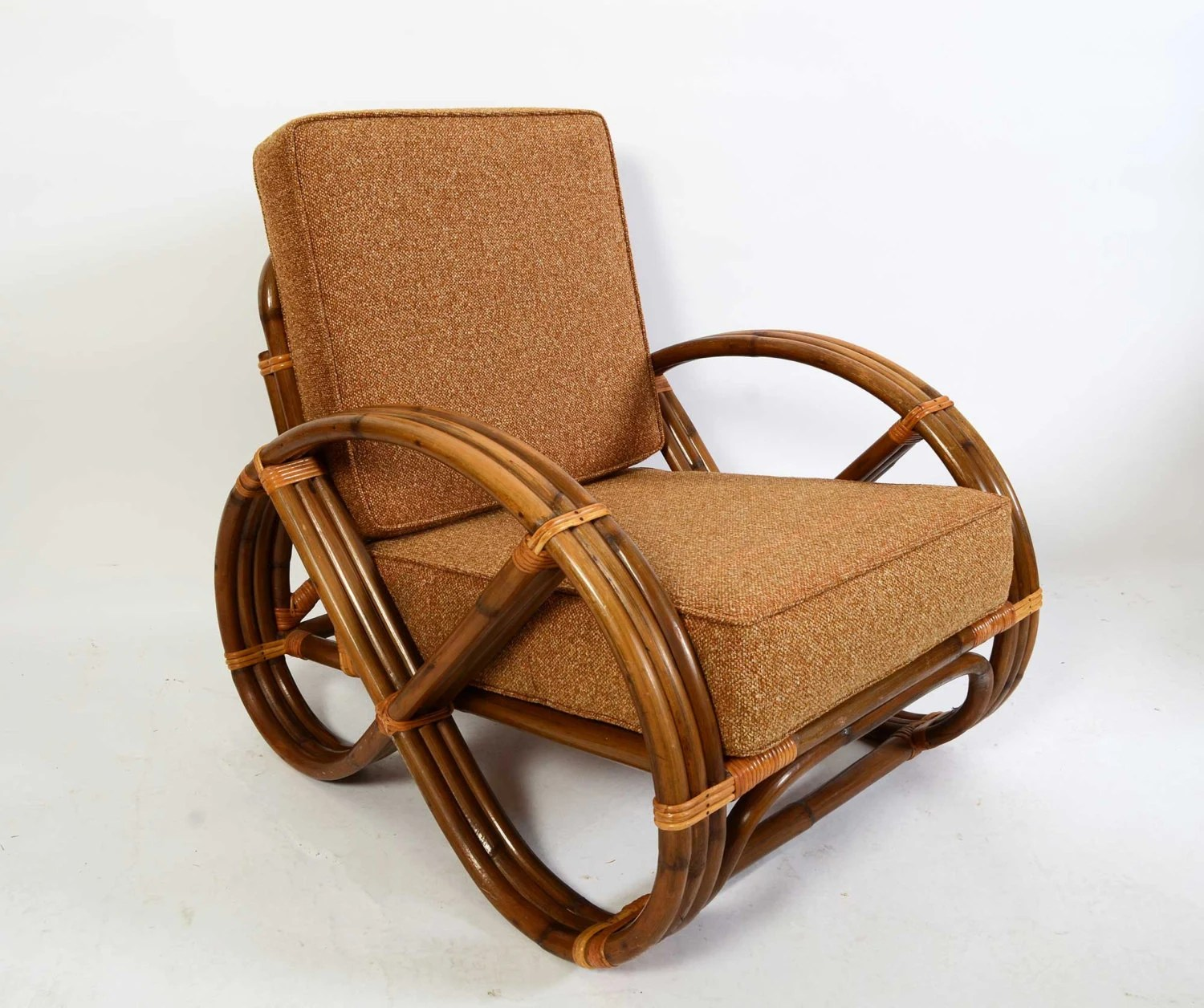 Pretzel Chair Bamboo And Rattan Arm Chair Made By Calif Asia 1960 Pretzel