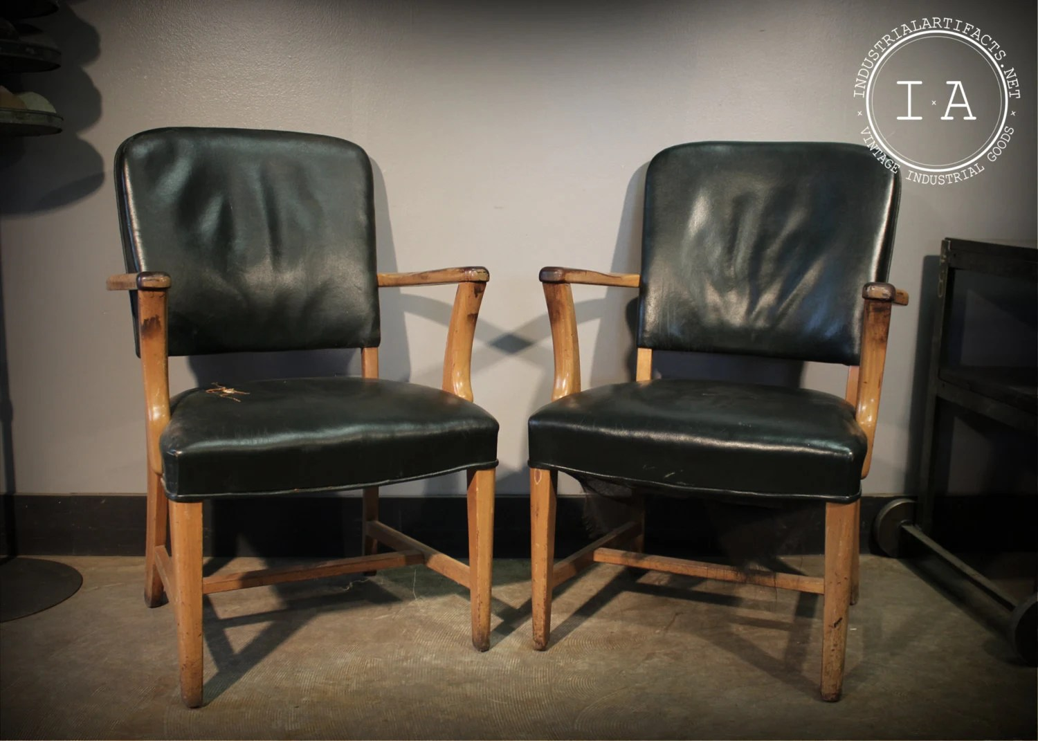 the chair company gander mountain chairs vintage industrial jasper green leather and wood