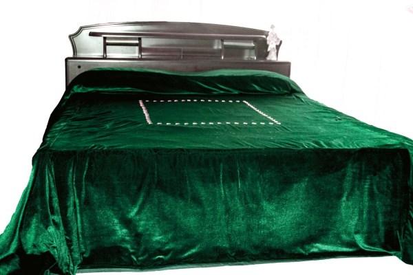 Dark Green Velvet Bedding
