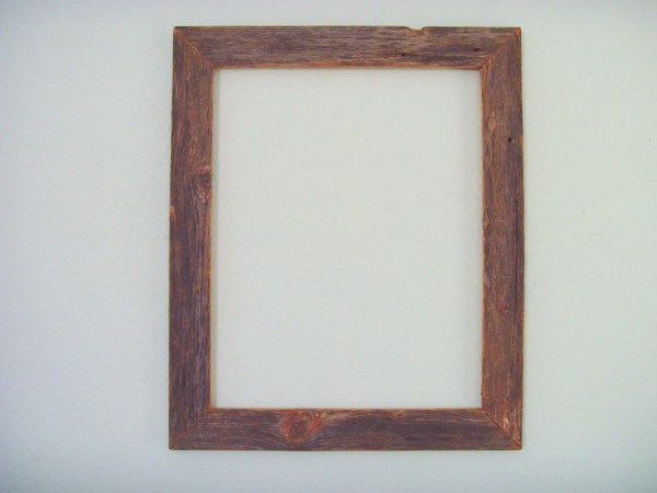 16 X 20 Weathered Wood Frame Rustic -purposed Reclaimed
