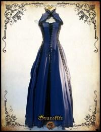 Miss Jasmine Medieval clothing dress Steampunk dress for