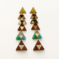 Zelda Triforce stud earrings
