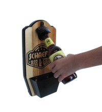 Personalized Wall Mount Bottle Opener Bar and by ...