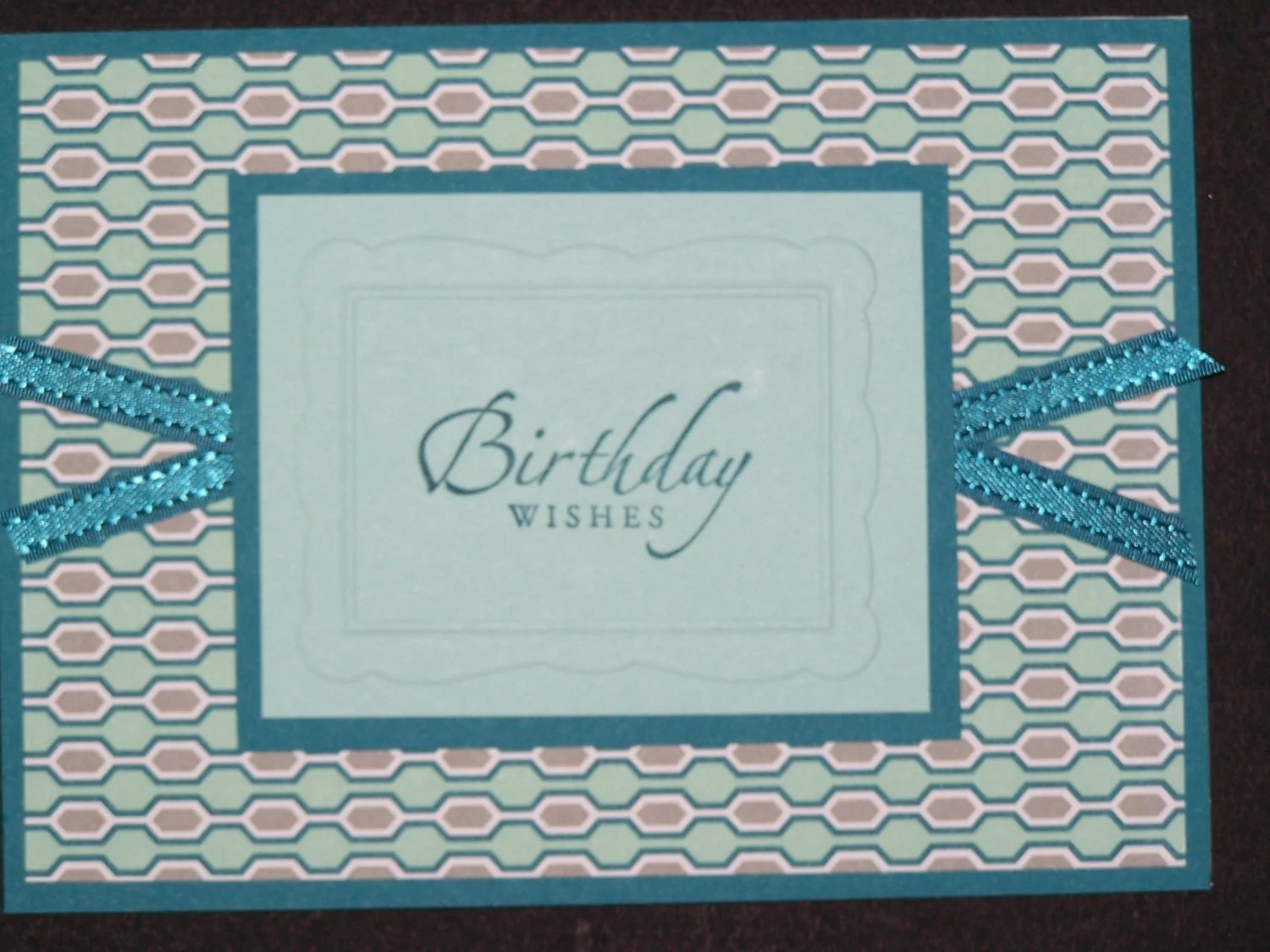 Stampin Up Handmade Greeting Card: Birthday Card, Birthday Wishes, Masculine Card, Birthday Card for Man,Turquoise